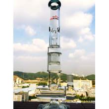 5 Perc y en línea Honeycomb Showerhead Tubo de agua de vidrio