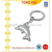 3D Silber Dolphin Anhänger Metall Schlüsselringe mit Split Ring