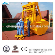 6-12cbm single rope hydraulic wireless remote control clamshell grab bucket for cranes on sale