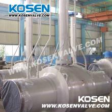Расширение ствола червячный Польностью сваренный шариковый клапан для газа