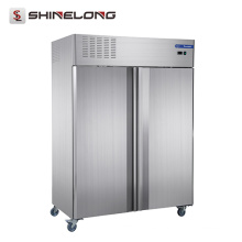 Furnotel Commercial Refrigeration Equipment Puertas dobles Congelador vertical (Material europeo estándar y sistema de refrigeración)