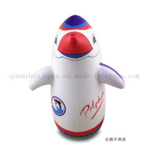 OEM PVC Print Penguin Balloon Inflatable Tumbler Toy for Promotion