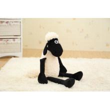 Alta calidad peluche peluche blanco y negro ovejas