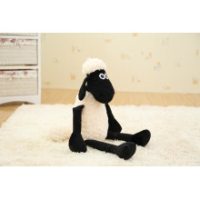 high quality plush teddy white and black sheep