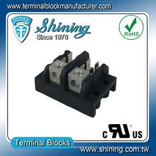 TGP-085-02A Tipo de guia de distribuição de energia Bloco de terminais de 2 poços de 85 ampères