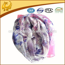 Light Color Cheap Pink Chiffon Scarf