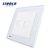 Livolo UK Standard 2 Gangs Multi-function Wall Computer Sockets VL-W292C-11