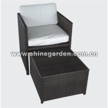 Chaise de jardin en osier