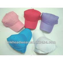 Wholesale plain cotton sport cap in cheap price/promotion summer sport cap