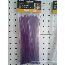 Purple Color Nylon Cable Ties 100 Piece Per Bag