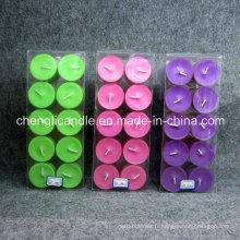 Bougie en plastique de bougie de tasse de parfum