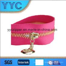 Fermeture à glissière en métal rose d'or de fin de # 5