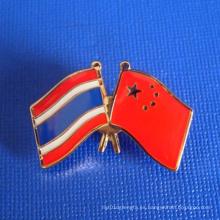 Pin de la solapa de la bandera de la insignia Epoxy-Dripping de encargo grabada (GZHY-LP-002)