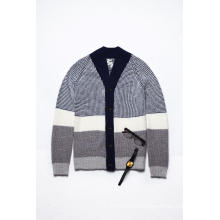 Winter Long Sleeve V Neck Knitting Men Cardigan
