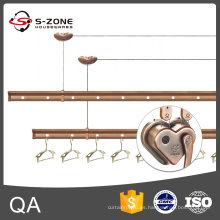 SZ12-03 Estante de ropa de aluminio con control de mano