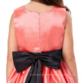 Grace Karin Sleeveless Crew Neck Red Flowers Girl Dress Pattern Party Children Girls Dress CL007554-1