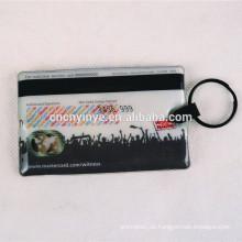 Werbe-Rechteck Personalausweis Form führte Schlüsselanhänger