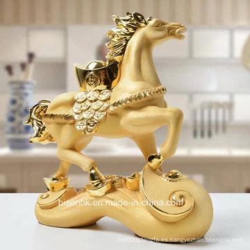 Artesanía de resina, caballo de resina para la decoración de la oficina