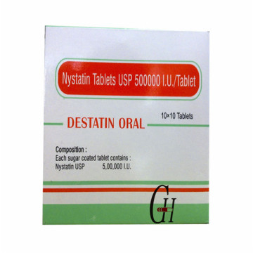 Tabletas de Nystatin 500000IU