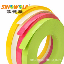High Gloss PVC Edge Banding Tape För Skåp