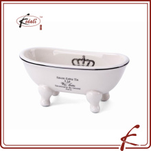 ceramic shell bathroom shower soap dish
