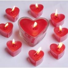de la combustión larga velas tealight con portavasos en forma de corazón