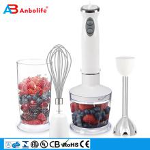 Mini batidora portátil de frutas con pilas para cocina, batidora de acero inoxidable / tarro de cristal, licuadora de vacío húmeda y seca