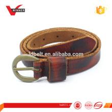 Cinturones de cuero real vintage para hombre