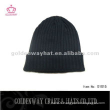 men knitted long fashion beanie hat pattern