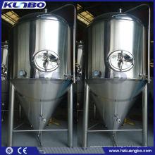 Tanque interior tanque de fermentação de cerveja semi-polido pele exterior polido