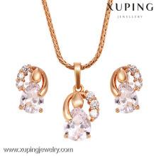 62432-Xuping Moda mujer dos piezas Jewlery Set con 18 quilates chapado en oro