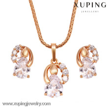 62432-Xuping Fashion Woman Two Pieces Jewlery Set with 18K Gold Plated