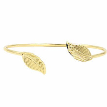 2016 Charm Jewelry 24k Gold Leaves Shape Design Bracelet