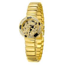 Swiss Luxury Leopard Plate Steel Watch