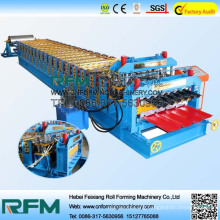 FX double layer colored coil roof roll forming machine
