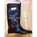 warm durable men's pvc rain boots