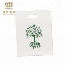 A compra Eco-Amigável leva o saco de plástico biodegradável compostável feito sob encomenda do Cornstarch 100 com En 13432