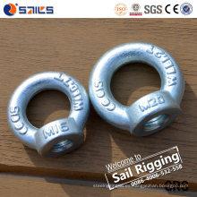 Fabricante galvanizado de la tuerca del ojo del acero de carbono DIN582 China