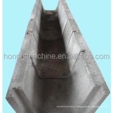 precast concrete U shape channel molding machine , Concrete Water Channel Forming Machine