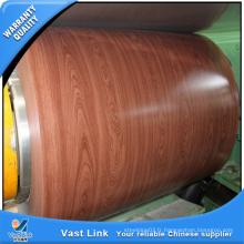 Bobines en acier galvanisé prépaintées en bois
