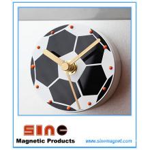 Moda criativa futebol silencioso geladeira relógio magnético