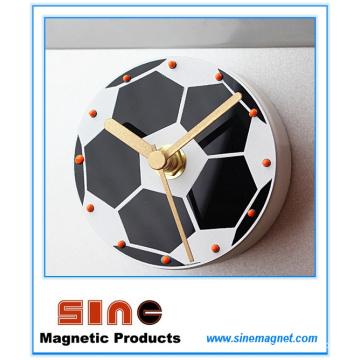 Reloj magnético del refrigerador silencioso creativo del fútbol de la moda