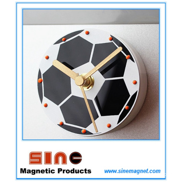 Творческий Мода Футбол Бесшумный Холодильник Магнитные Часы