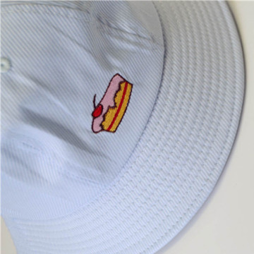 Custom Flat Embroidered Cotton Bucket Hat