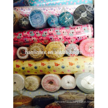 reactive printed cotton flannel fabric in stock