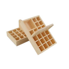 Free Padding EO Labels Essential Oil Wooden Box 21 Bottles with handle