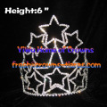 6inch Wholesale Star Crystal Crowns