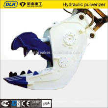 Escavadora hidráulica de cisalhamento, triturador e pulverizador para a demolição de edifícios