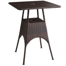 Patio Resin Rattan Wicker Garden Outdoor Bar Set Table