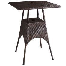 Смолы из ротанга плетеная сад патио открытый бар установить стол